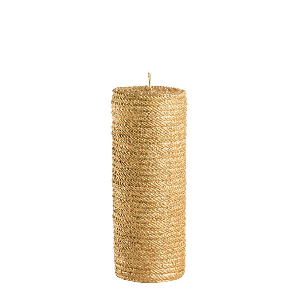 Kerze, goldene Kordel, S 1