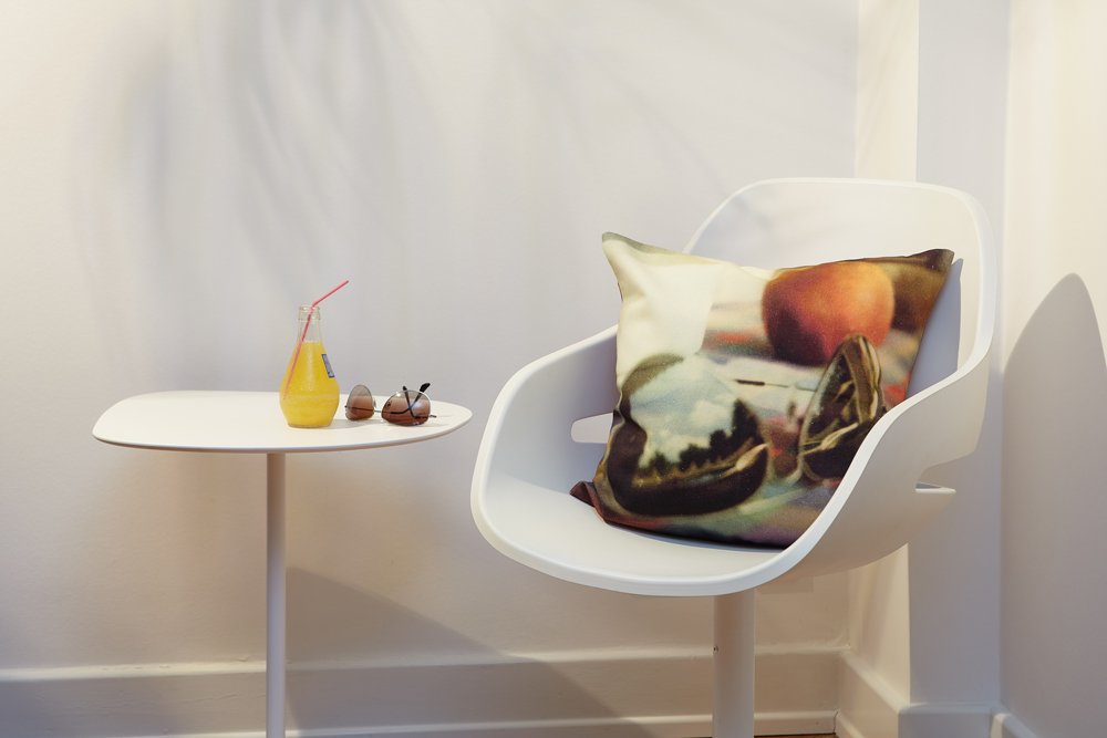"Modernes Kissen ""Brille"", 45 cm x 45 cm 2"