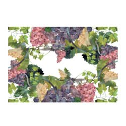 """Napking: Tischdecke """"Grapes"""" , 180×270 Cm, Made In Italy"""